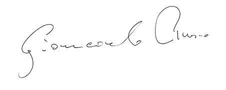 Autograf Giancarlo Ruso duzy